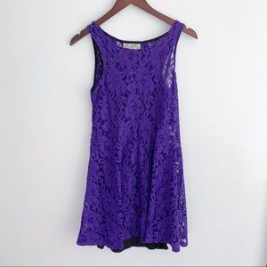 Free People Purple Lace dress size XS